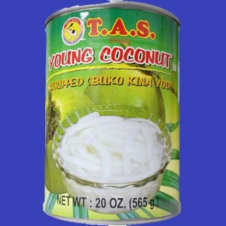 TAS STRIPPED YOUNG COCONUT MEAT 565g