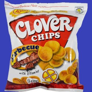 LESLIE'S CLOVER CHIPS BARBECUE 55g