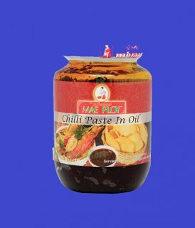 CHILLI PASTE  IN OIL S SIZE (MAE PLOY)チリインオイル メープロイ 瓶 Sサイズ 250g