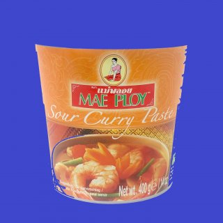 SOUR VEGETABLE CURRY PASTE(CUP) (MAE PLOY) サワーベジタブルカレーペースト メープロイ 24x400g CASE