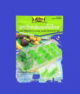 THAI FRUITS FLAVOR AGAR DESSERT MIXタイ寒天の素 果物の香り味 12x115g