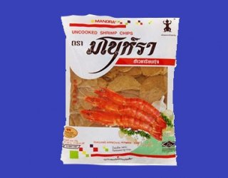 UNCOOKED SHIRIMP CHIPS (MANORA)タイ風エビセン(未調理)40x200g