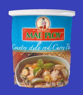 COUNTRY STYLE RED CURRY PASTE(CUP)(MAE PLOY)カントリースタイルレッドカレー メープロイ 400g
