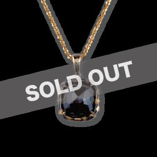 [Rinascita] K18 Pendant 3.0ct ブラックダイヤモンド -Leopard