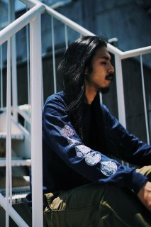PIZZAMAFIALONGT-SHIRT【NAVY】