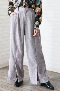 Corduroy Front Slit Pants