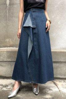 Denim Ruffle Skirt
