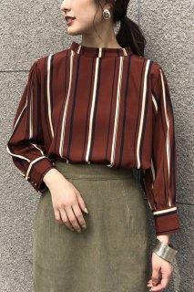 Retro striped blouse