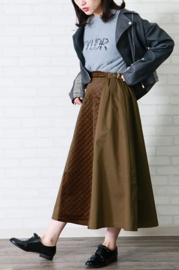 Quilting switch Flare skirt