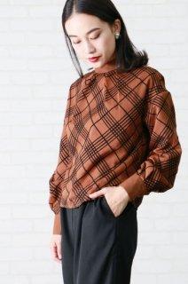 Sheer check blouse
