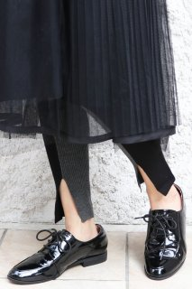 Bicolor slit leggings