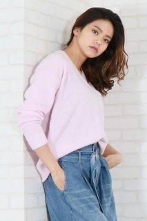 Flare sleeve tunic rib knit