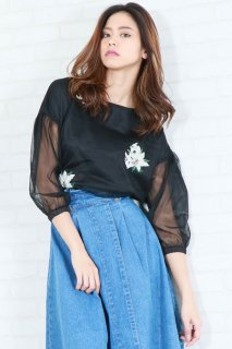 Lily tulle blouse