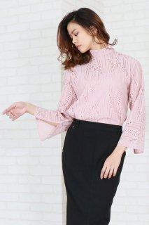 Striped lace blouse