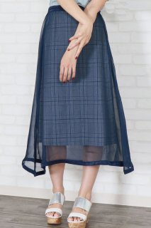 Organdy layered skirt