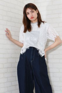 Lace square Tee