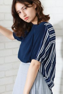 Back stripe blouse