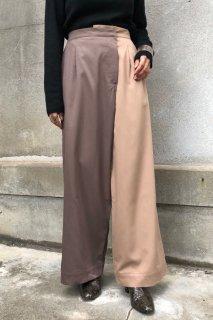 Bicolor wide pants