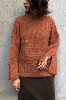 Baby mohair hem knit