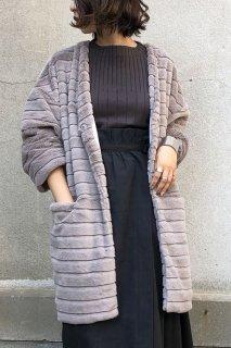 Check fur coat