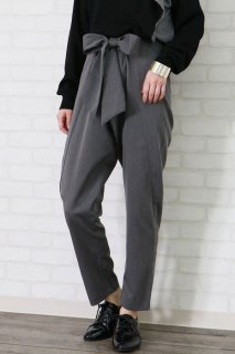 Ribbon tapered pants