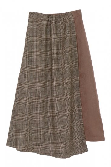 Cashmere ruffle bicolor knit