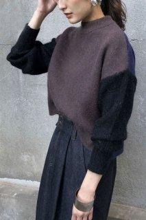 Angola bi-color knit