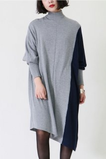 bi-color poncho one-piece