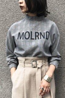 Check logo print blouse