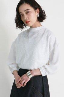 Check lace blouse