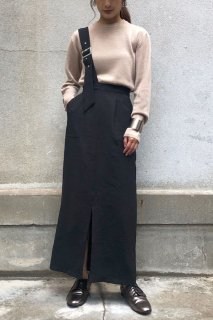 One-shoulder long tight skirt