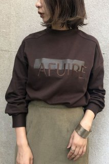 Logo×line print sweat