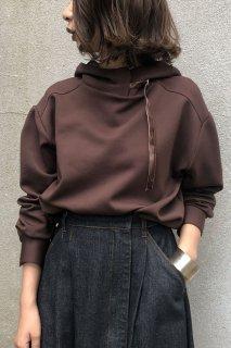Velor belt hood hoodie
