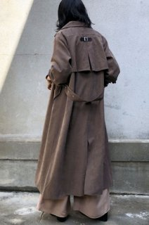 Back flare long coat