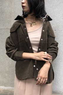 Corduroy loose shirt outer