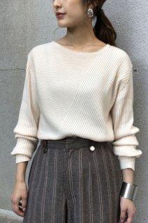 Fabric asymmetric knit