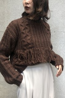 Cable x Fringe low gauge knit