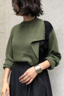 Ruffle bicolor knit