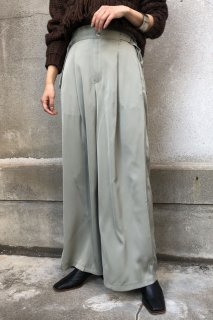 Waist belt wide pants