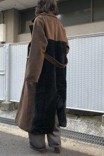 Back fur chester coat