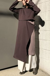 Layered tunic knit