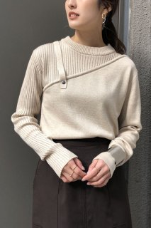 Asymmetric layered knit