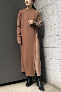 Bicolor tunic dress
