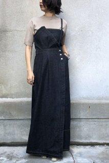 Denim asymmetry jumper skirt