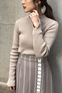Double mill rib knit pullover