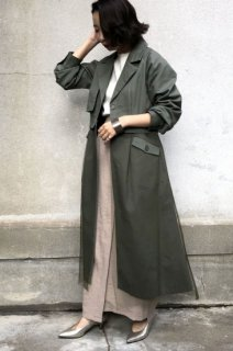 2WAY tulle layered coat