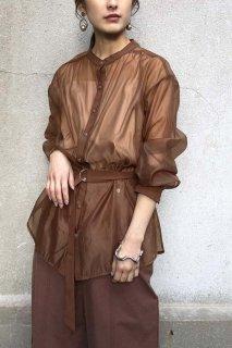 Sheer shirt blouse