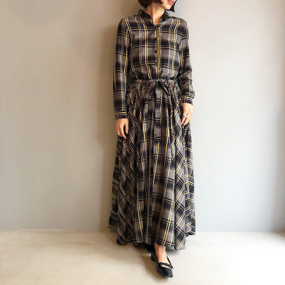 PaleJute 8M one-piece<BR>MULTI CHECK YELLOW LINE
