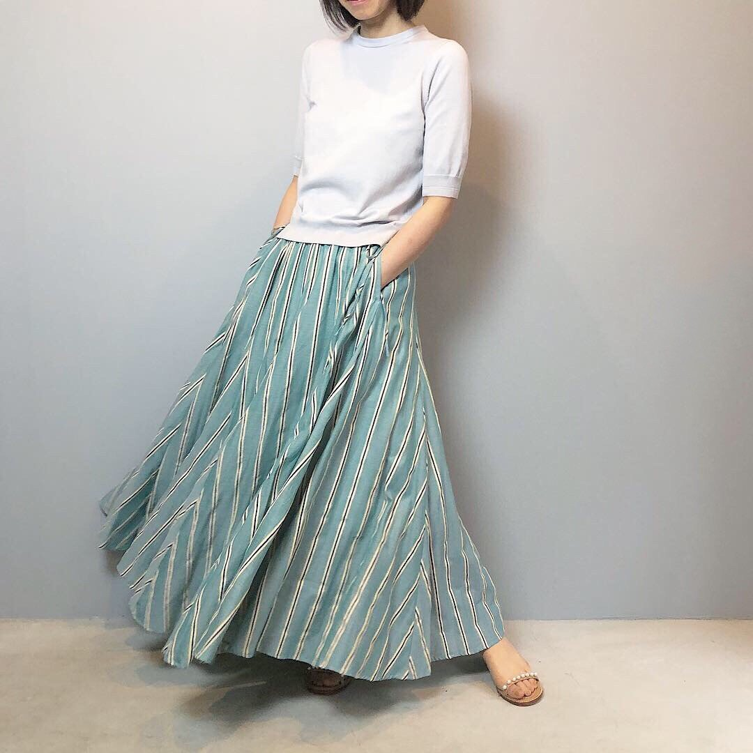 Pale Jute bailaora skirt �<BR>PEACOCK