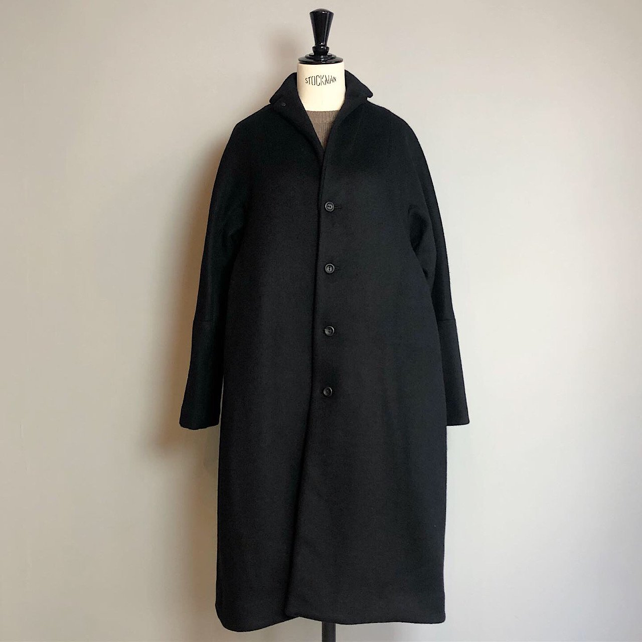 suzuki takayuki MEN'S<BR>tailored-collar coat・black